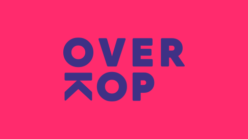OverKop logo on pink
