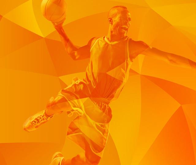 Ziggo Sport Basketball Orange Fractals