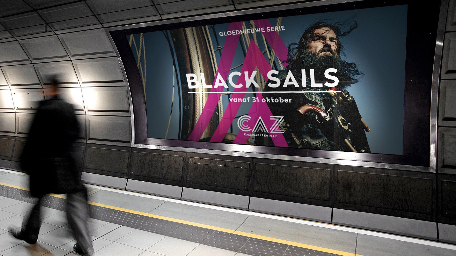 CAZ Black Sails Advertisement metro station