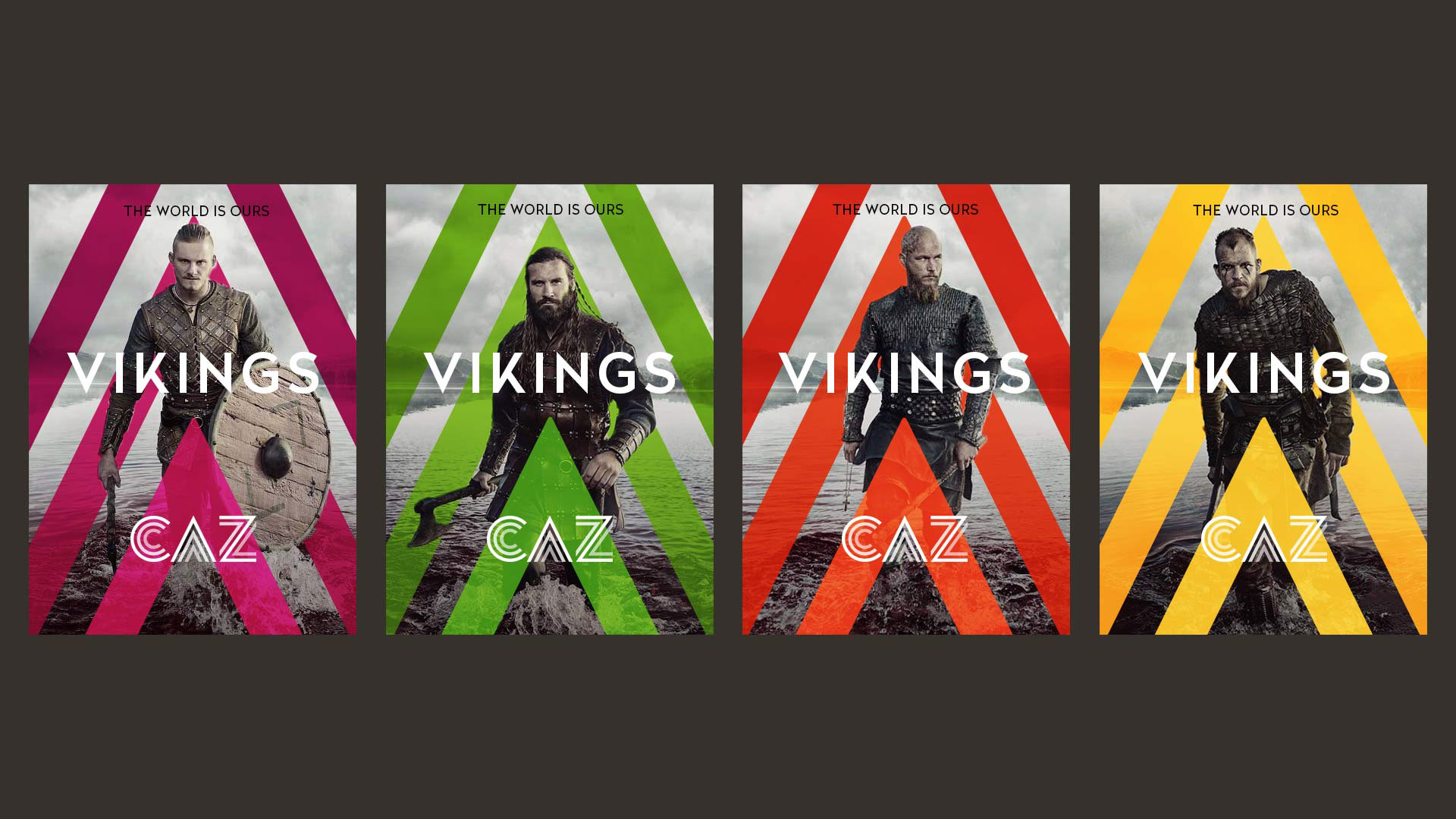 CAZ Vikings Posters flyers