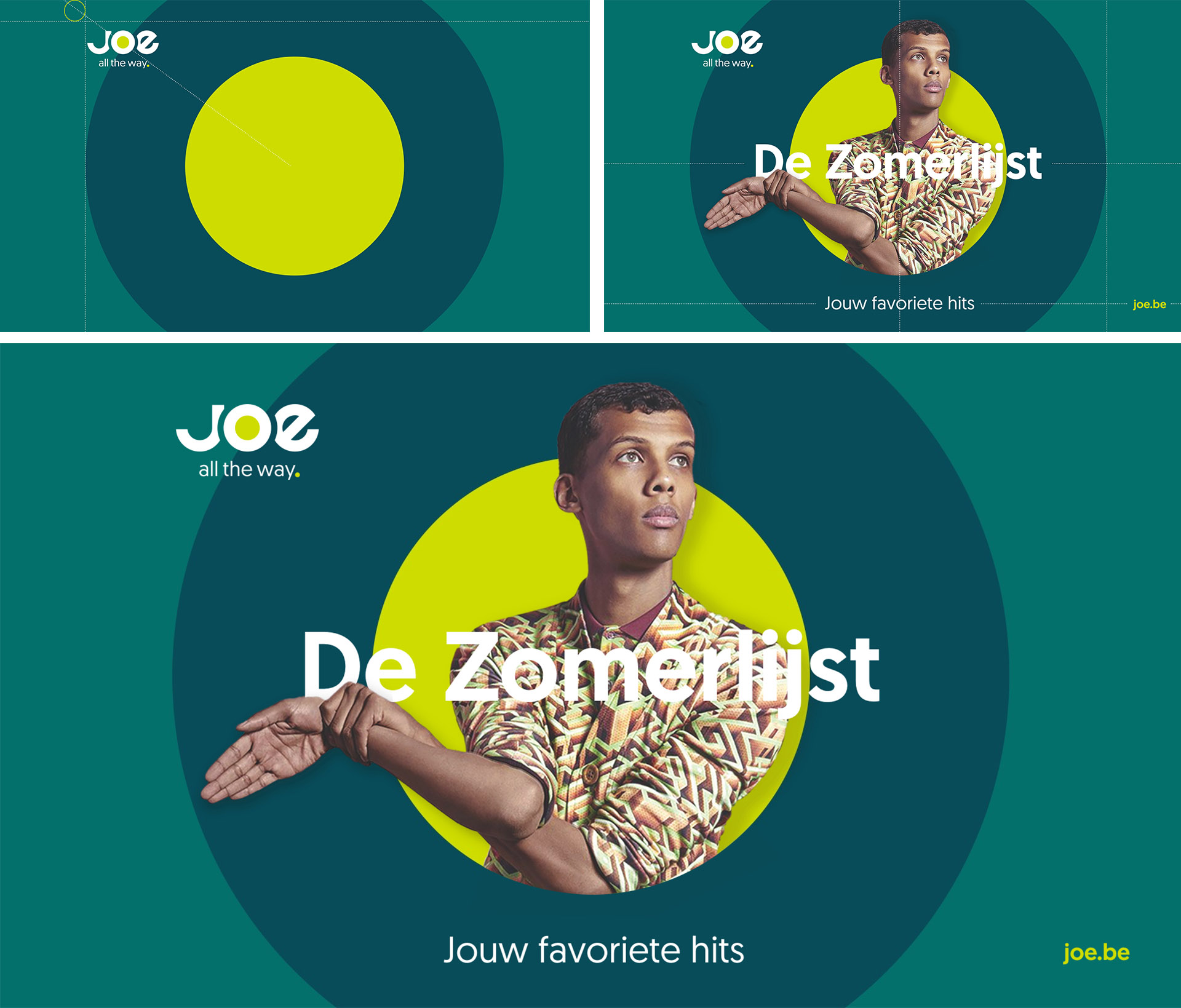 Medialaan Joe Identity Design logo system joe.be