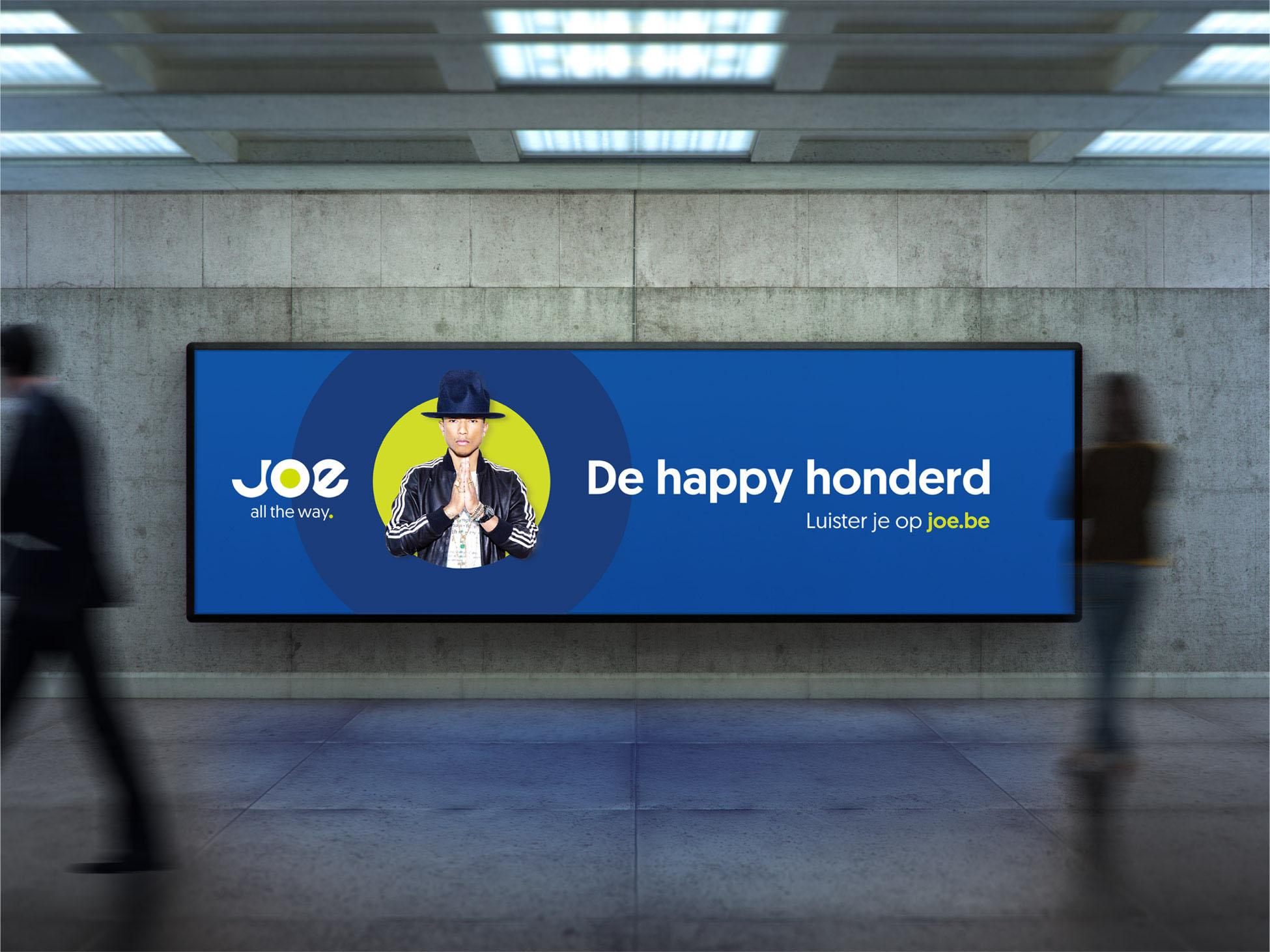 Medialaan Joe Advertisement billboard identity design