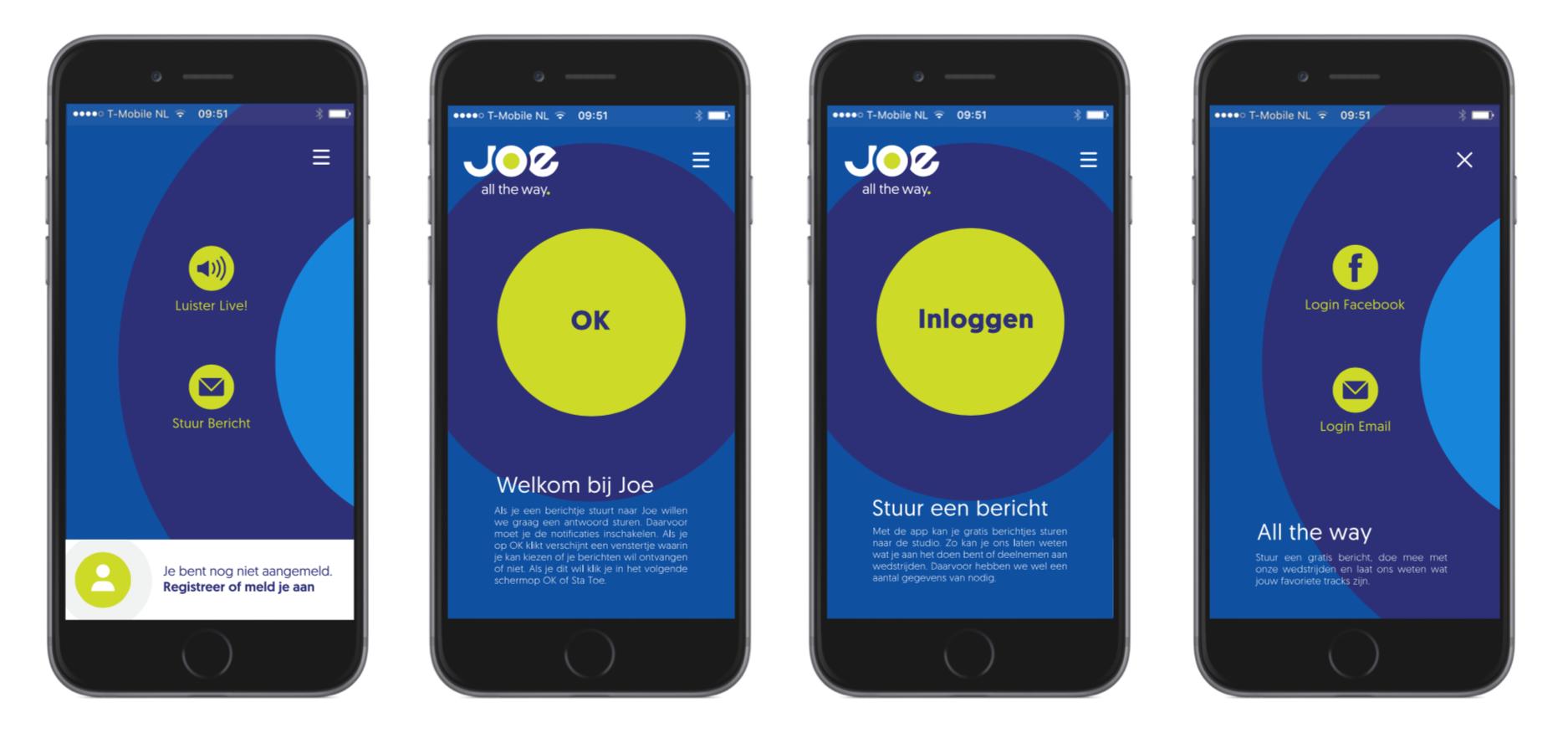 Medialaan Joe App design