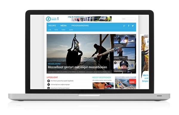 Omroep Zeeland Desktop Website
