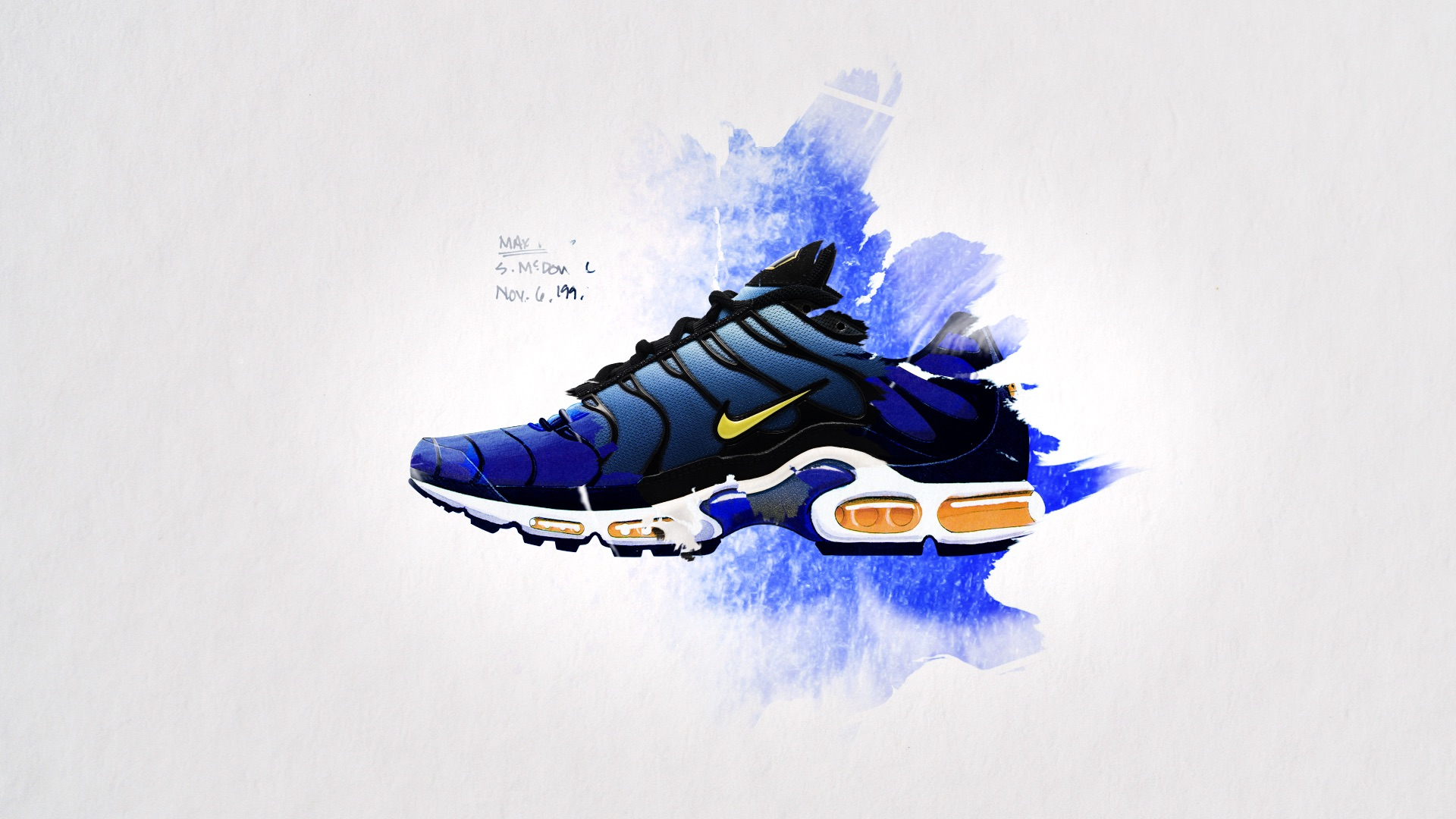 half off 153de a99d4 ... Nike Tn Air. The organic motion design is a translation to, firstly,  the blending colours of the shoe s aesthetic - inspired by gradients found  in ...