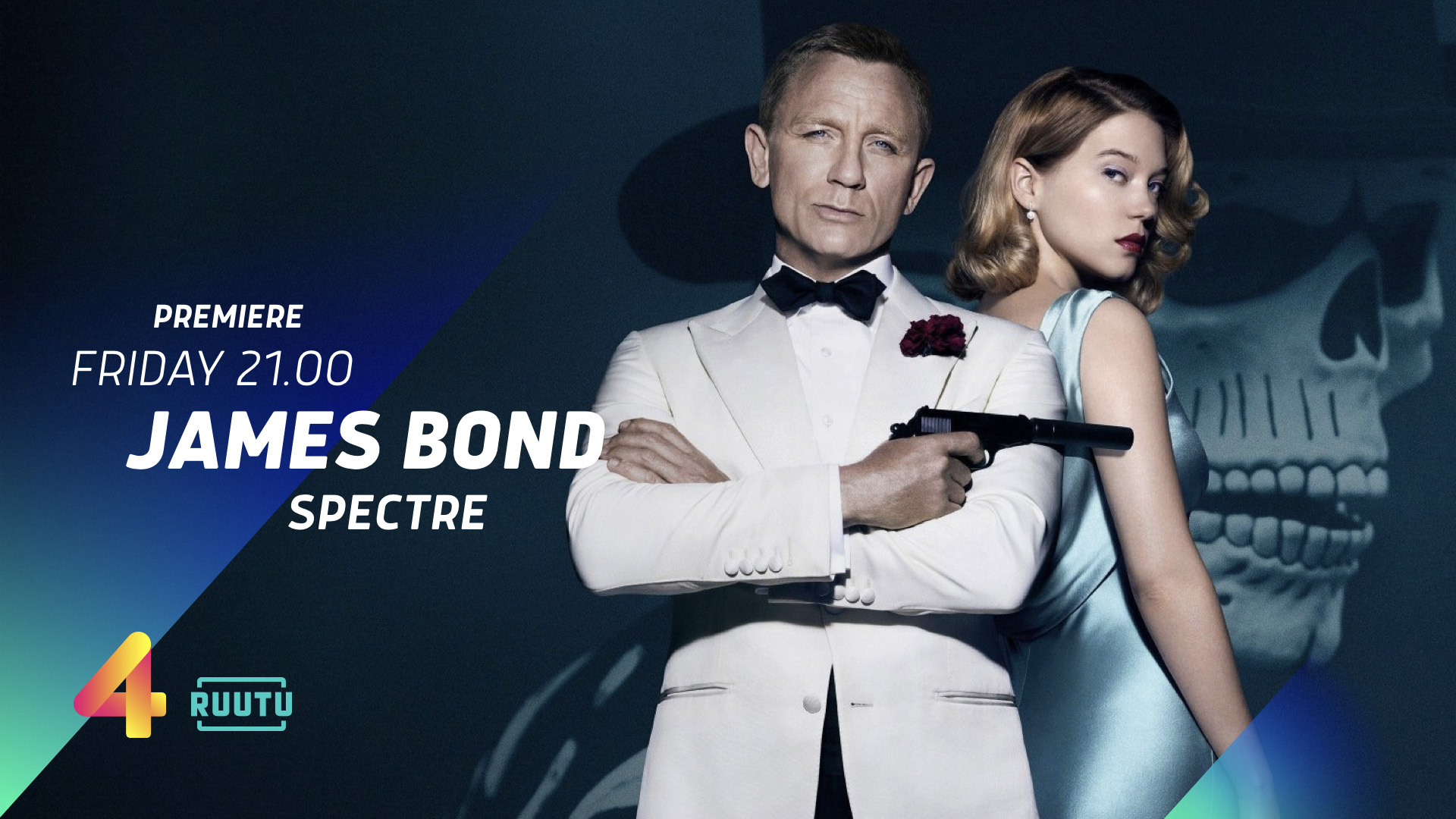 Nelonen James Bond Spectre title system design opener