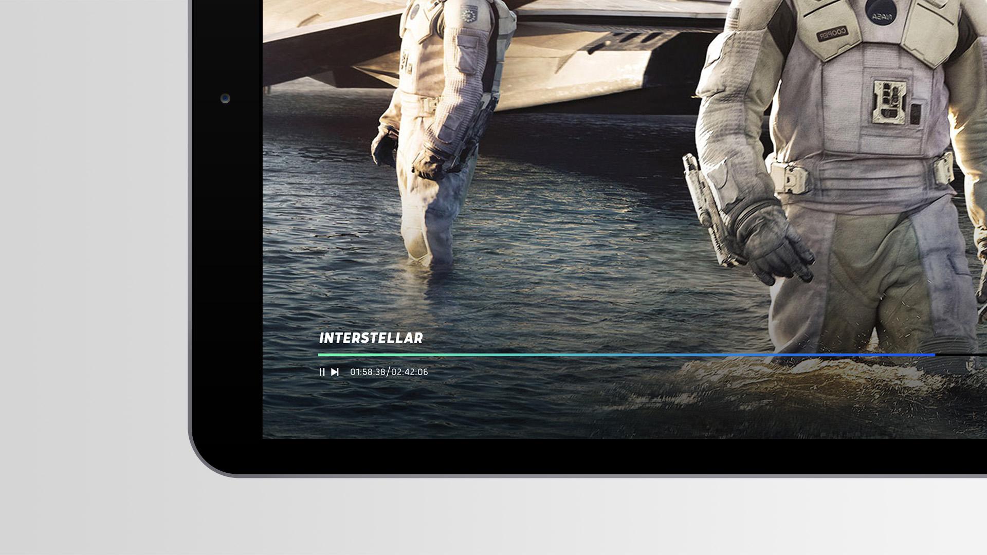Nelonen iPad playbar