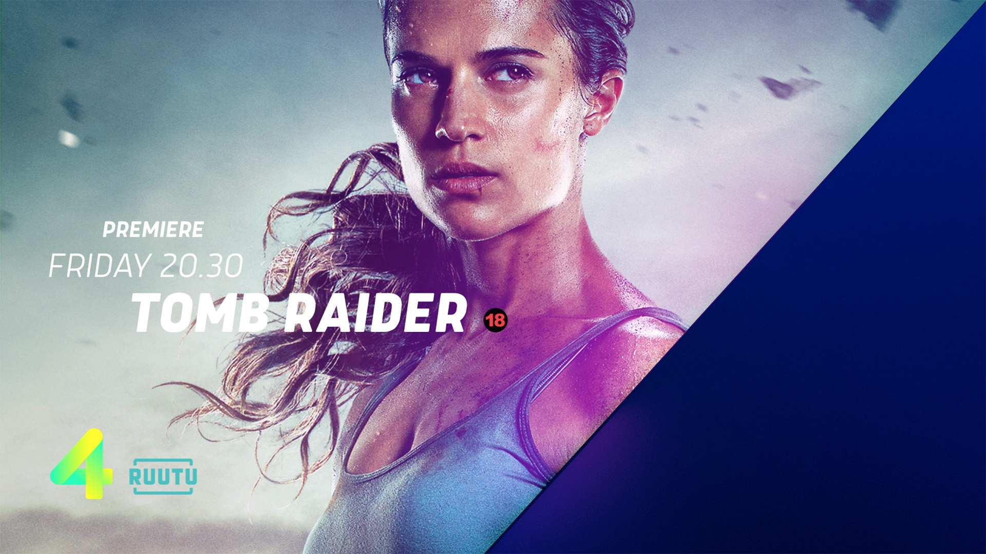 Nelonen Tomb Raider Title system design animation motion graphic
