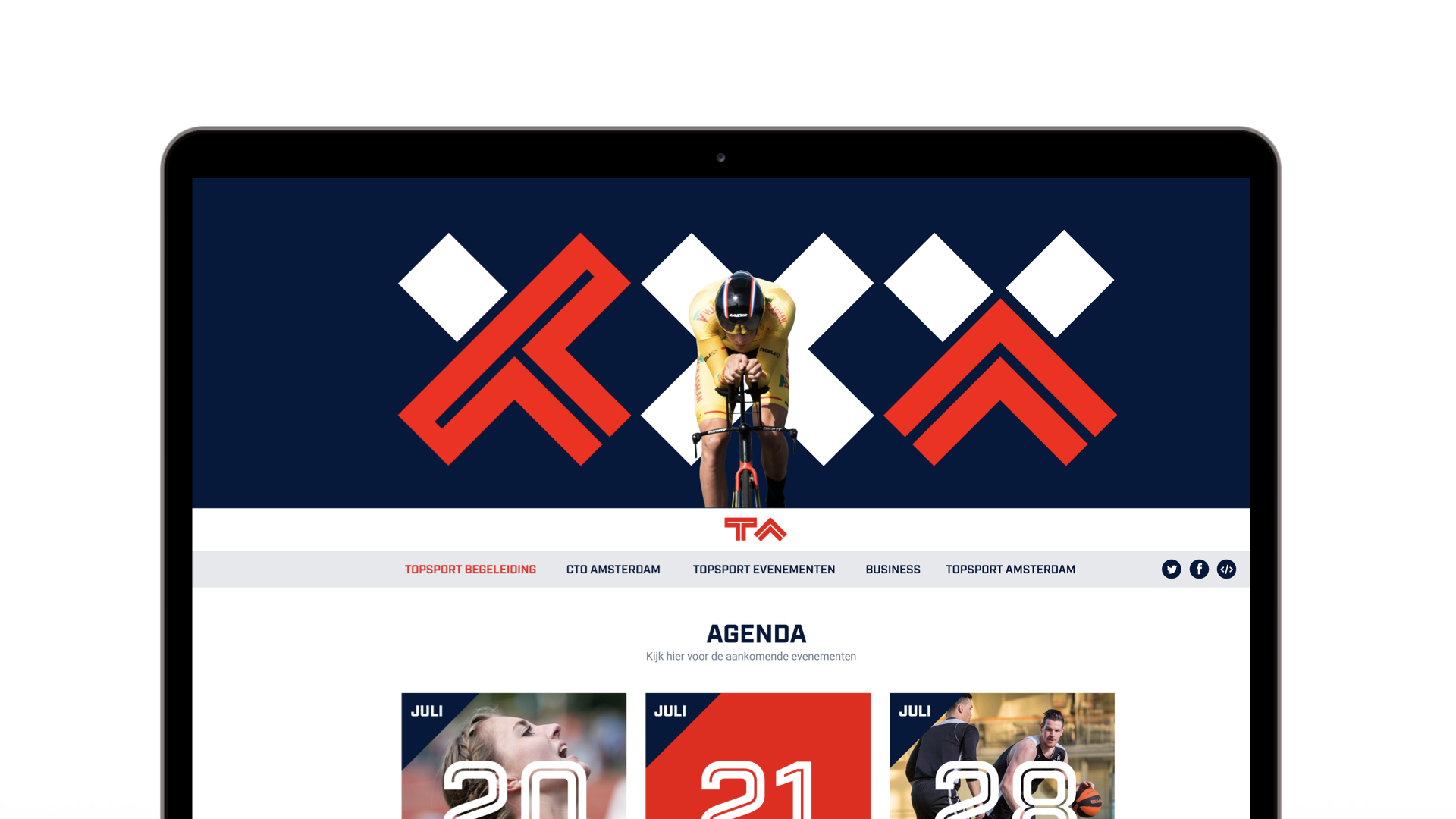 Topsport Amsterdam Website