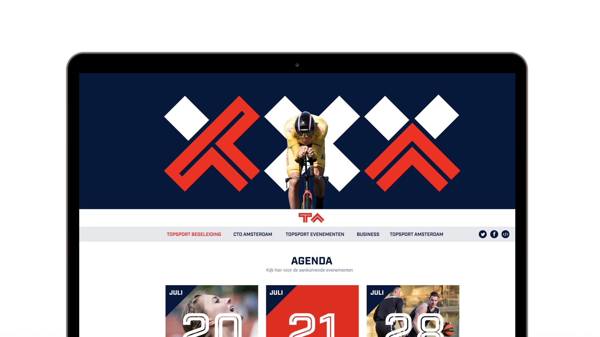 Topsport Amsterdam Website