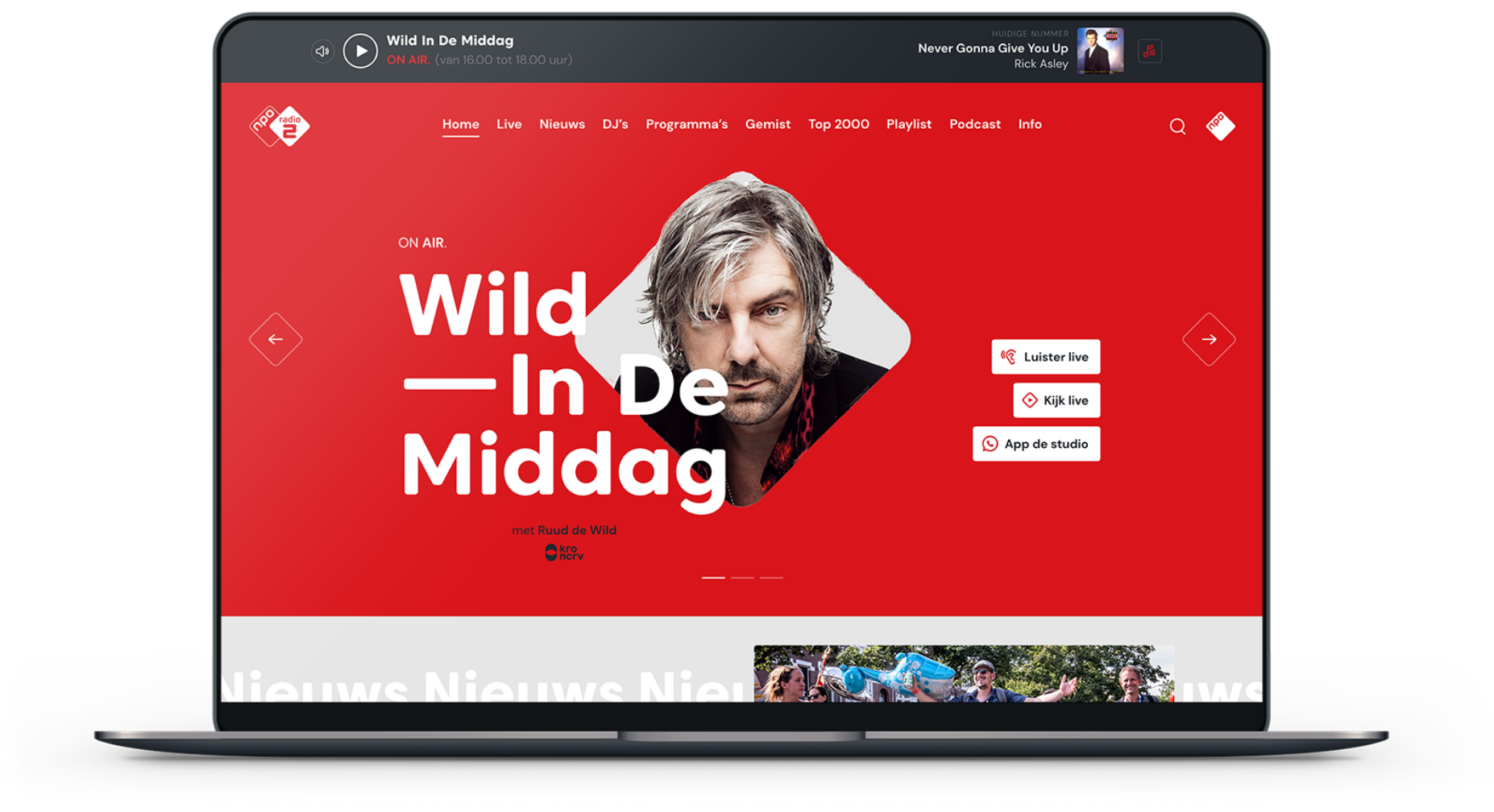 NPO Radio 2 design Website