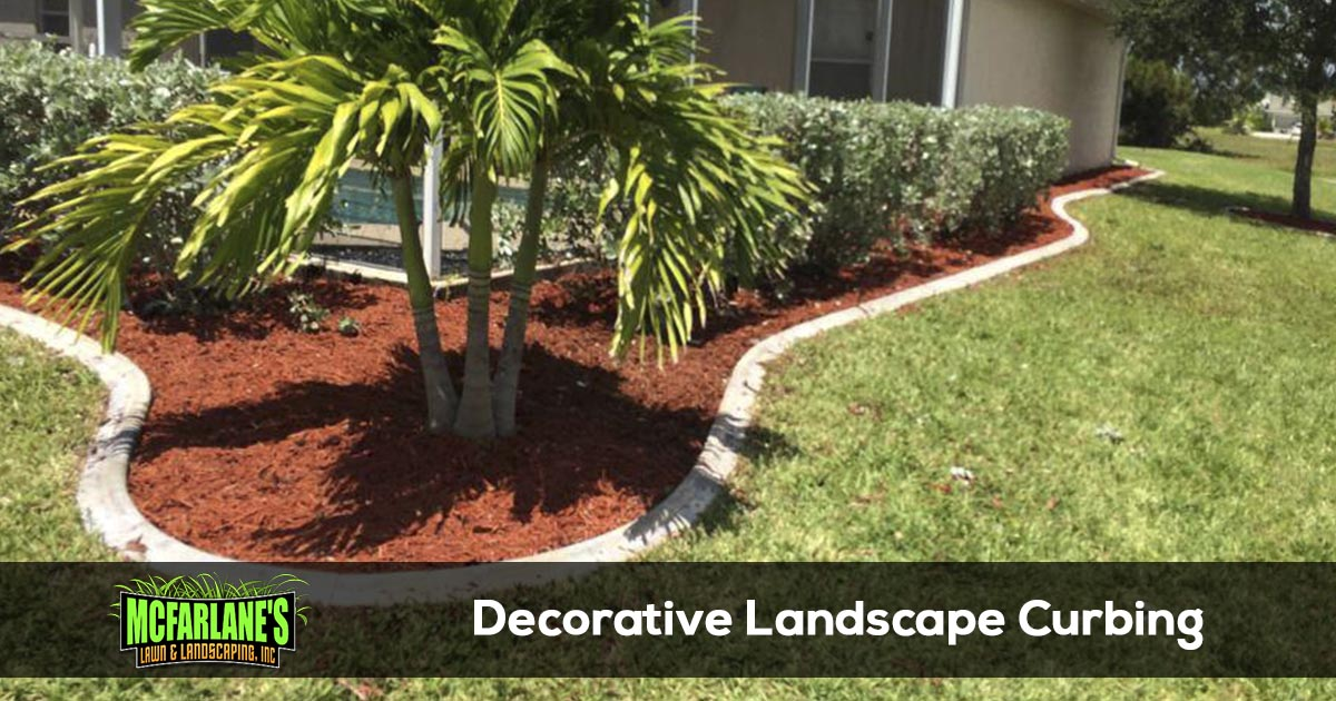 Decorative Concrete Landscape Edging
