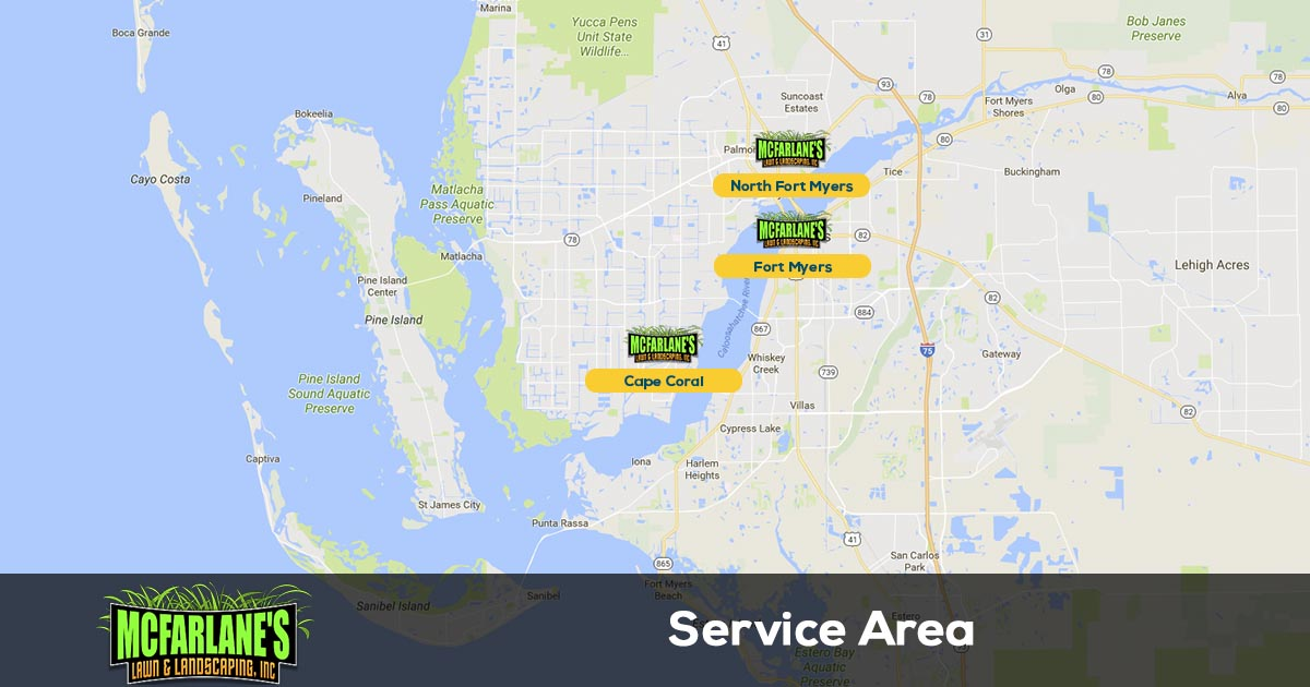 Lee County lawn care service area