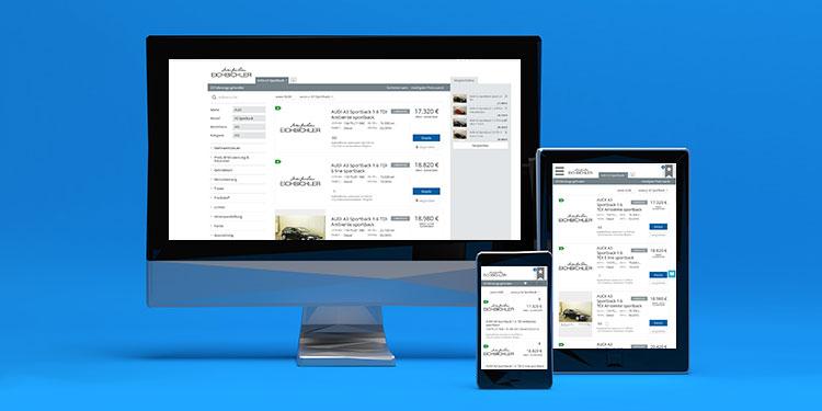 Fahrzeug-Datenbank für die Autohaus-Webseite. Mobil, responsiv, zeitgemäß.