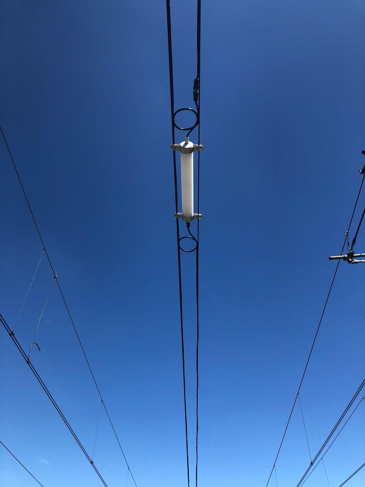 300 meter spandraad verlichting voor het opstelterrein in Enkhuizen