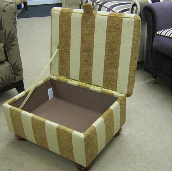 Bespoke Oak Tree footstool with lid open