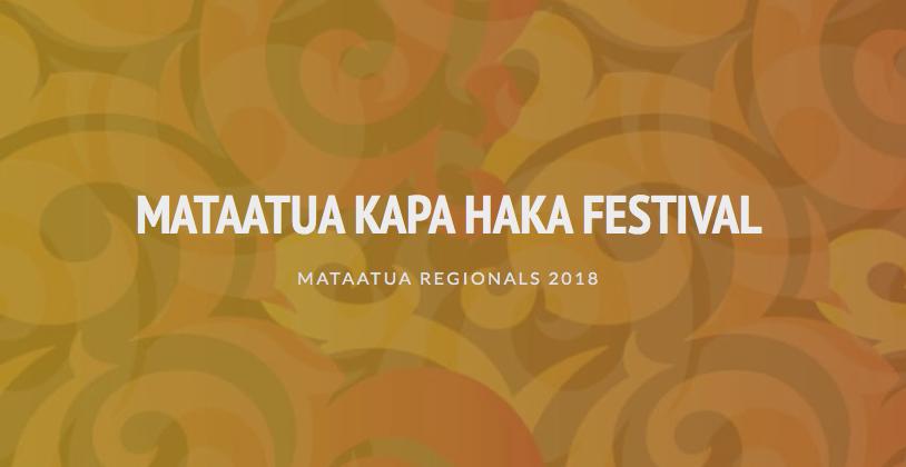 Mataatua Kapa Haka Festival Regionals 2018
