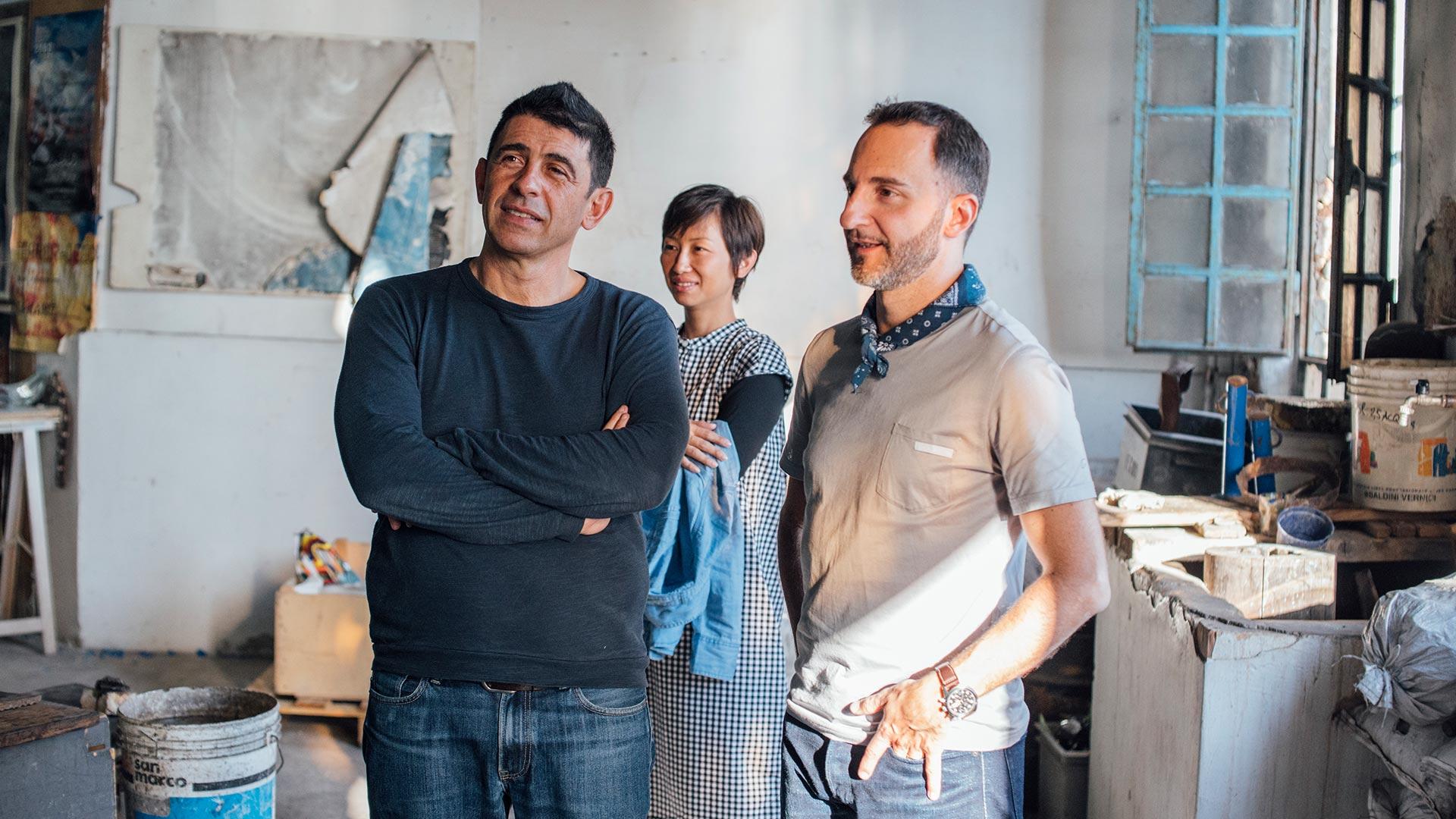 Maurizio Marano and Marco Stefanelli of Stella Blu Textiles