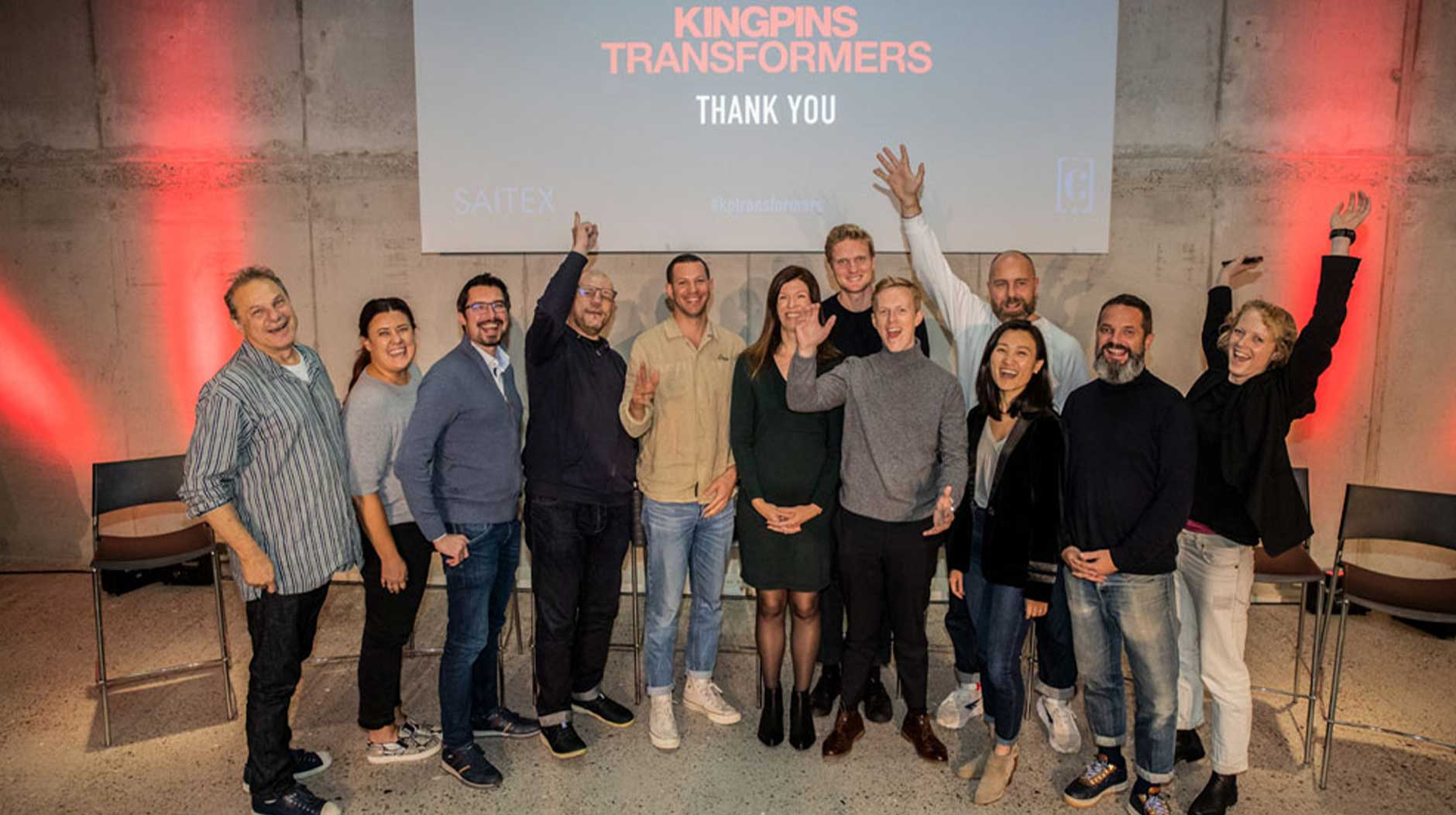 Speakers group photo at Kingpins Transformers event