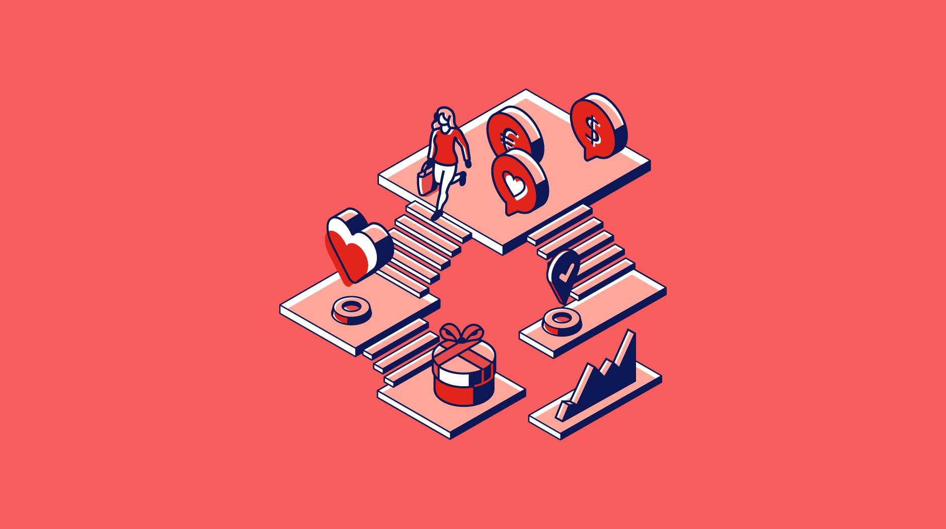 An illustration that illustrates the interconnectedness of customer journey