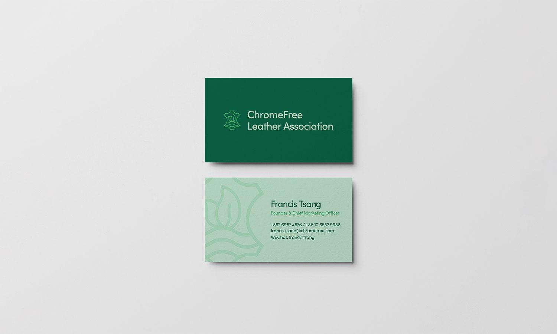 ChromeFree® Leather Alliance Business Card Mockup