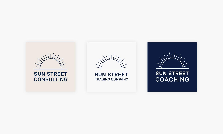 Sun Street Logo Variations