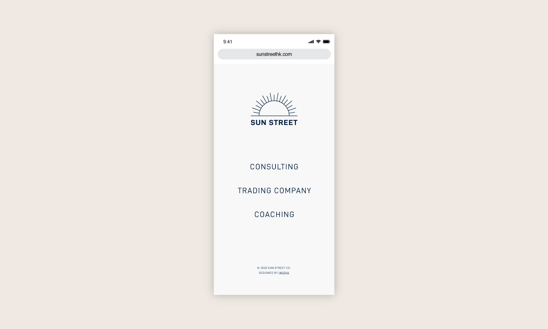 Sun Street Mobile Homepage
