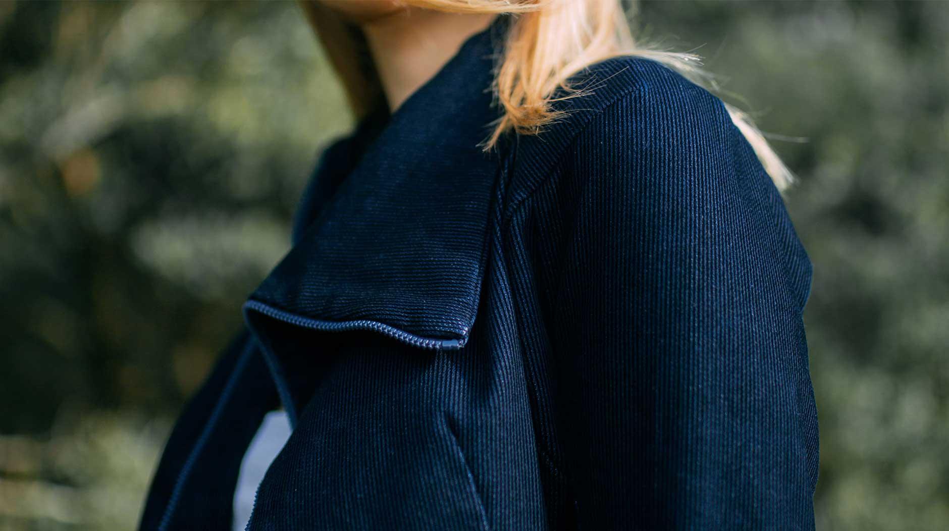 Closeup image of a garment's fabric