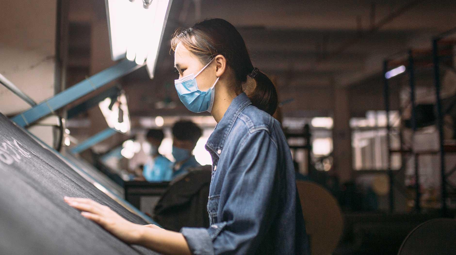 Denim fabric quality control