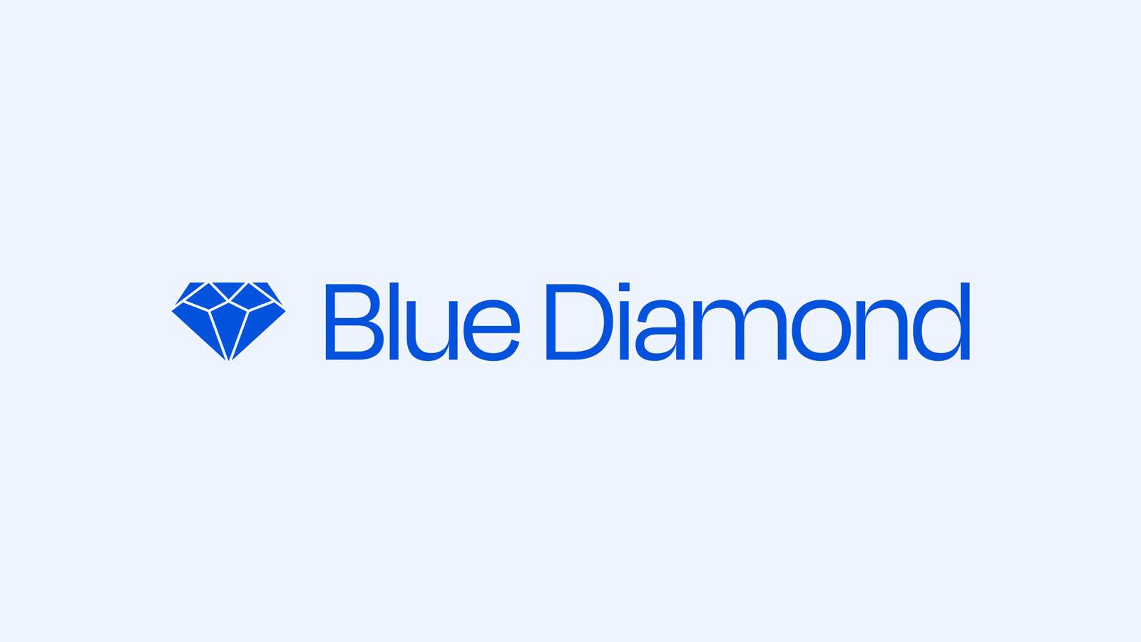 Blue Diamond blue logo lockup