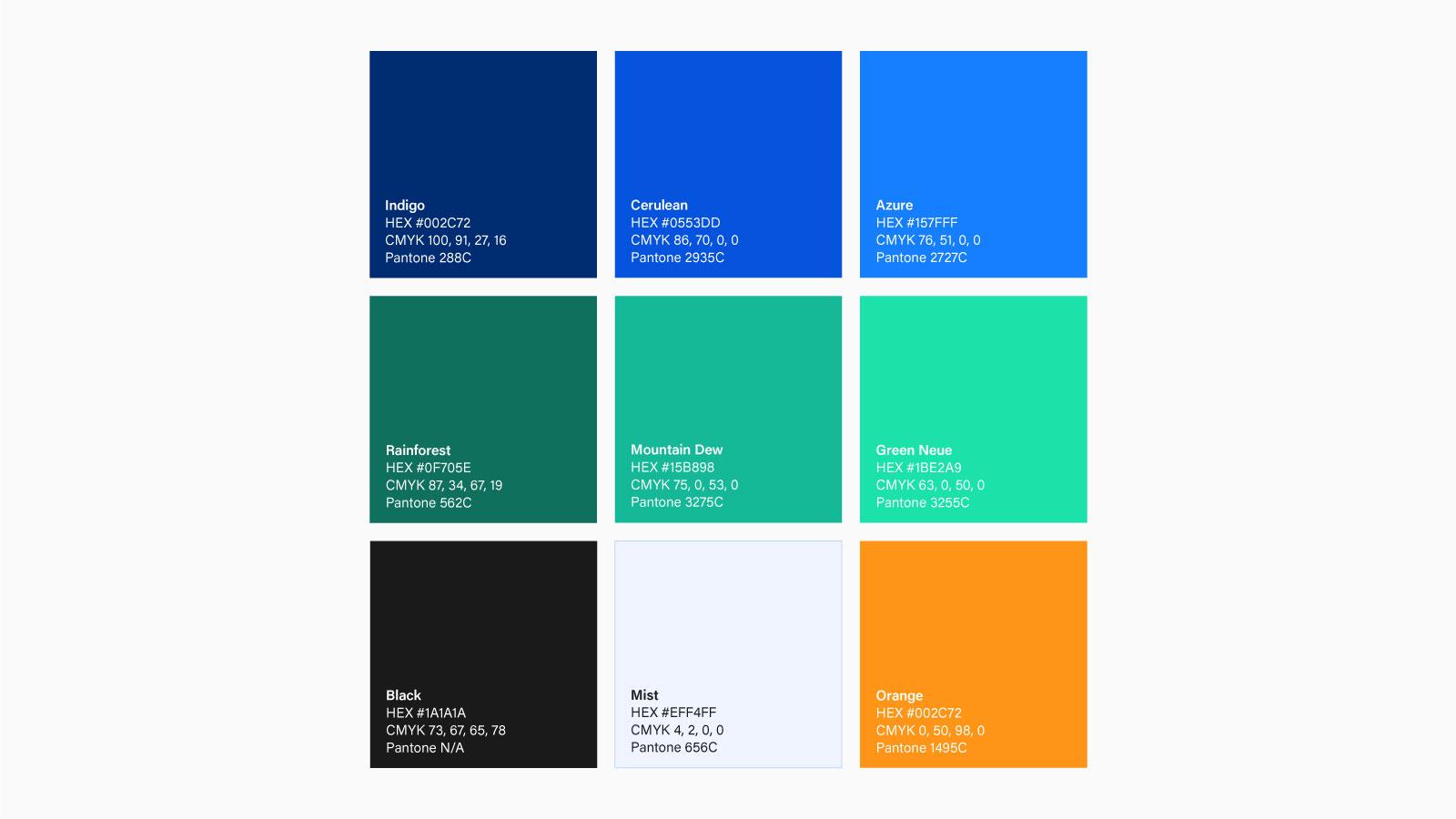 Blue Diamond colour palettes