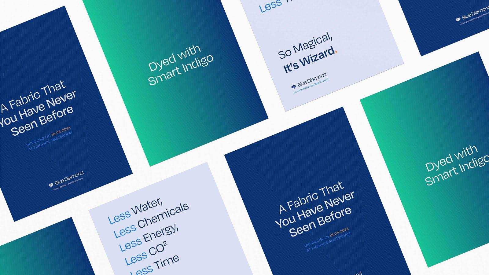 Blue Diamond poster mockups