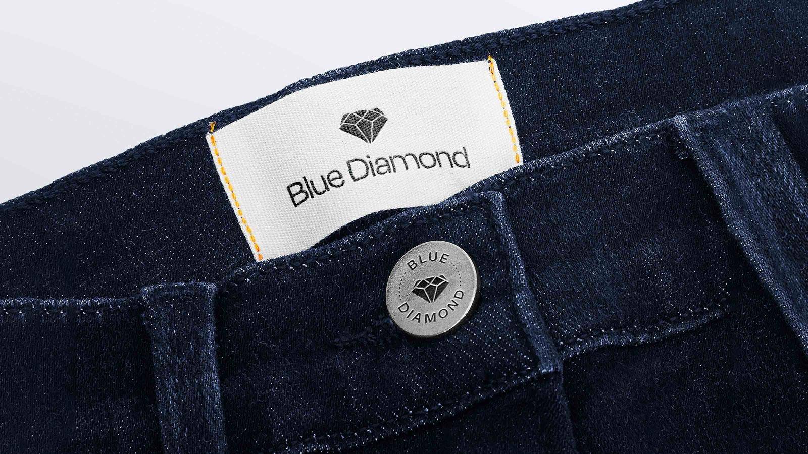 Blue Diamond engraved jeans buttons