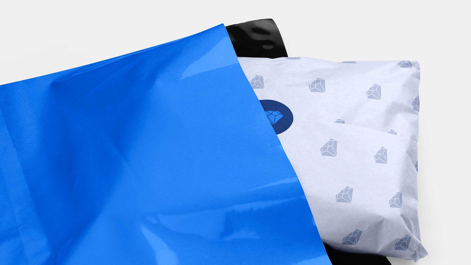 Blue Diamond packaging mockup