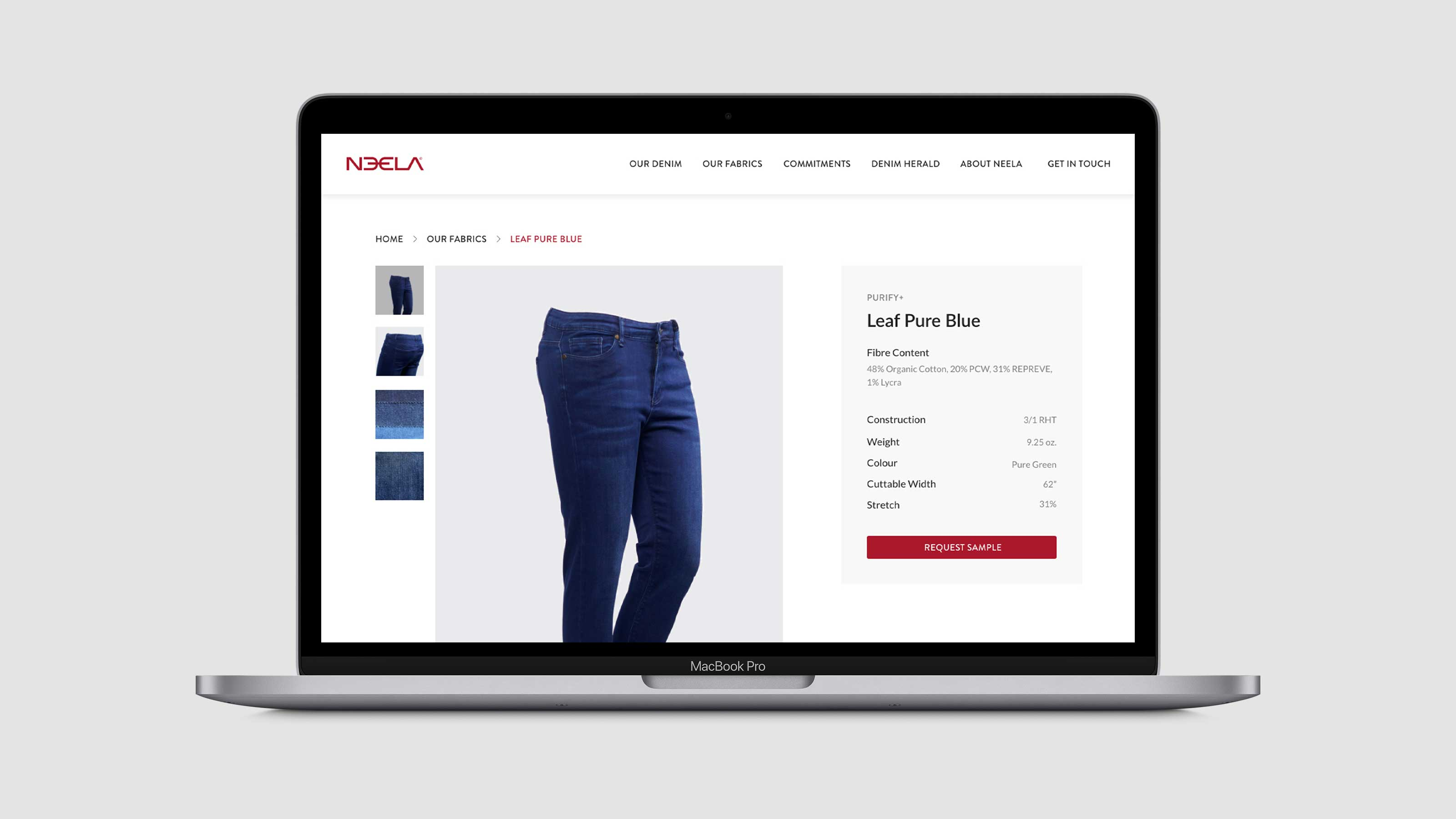 Neela Fabric Details Page