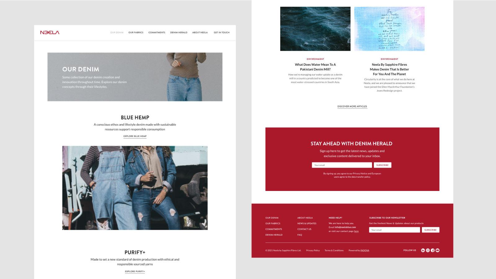 Neela Website Page Details