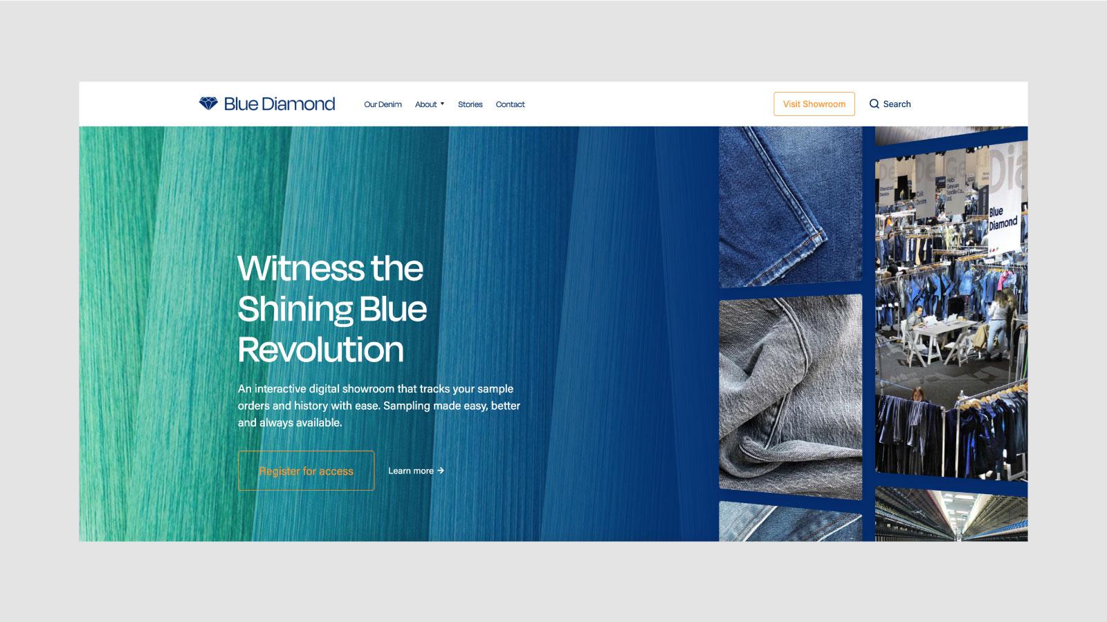 Blue Diamond Homepage Website