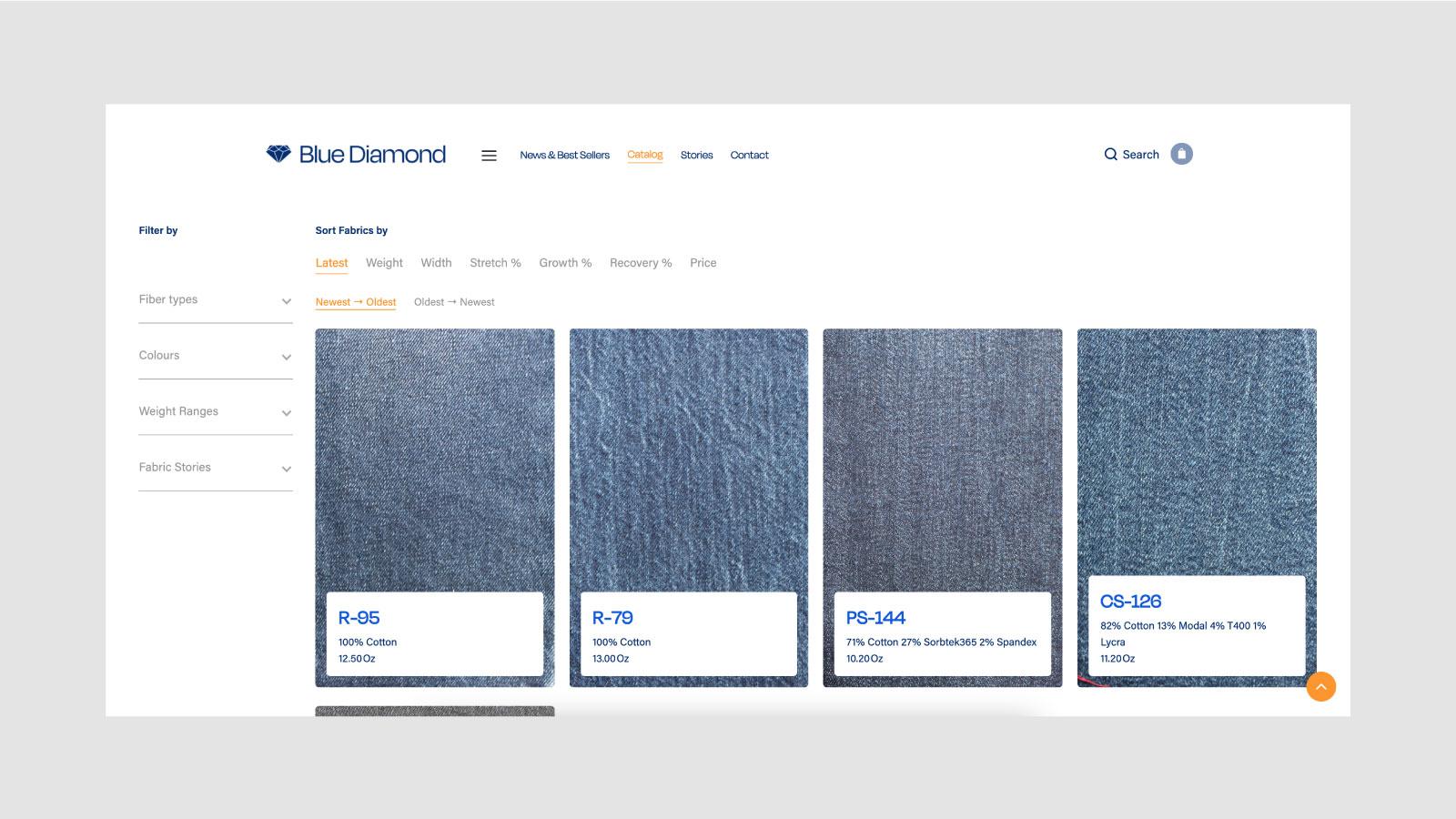 Blue Diamond Digital Showroom Catalogue Page