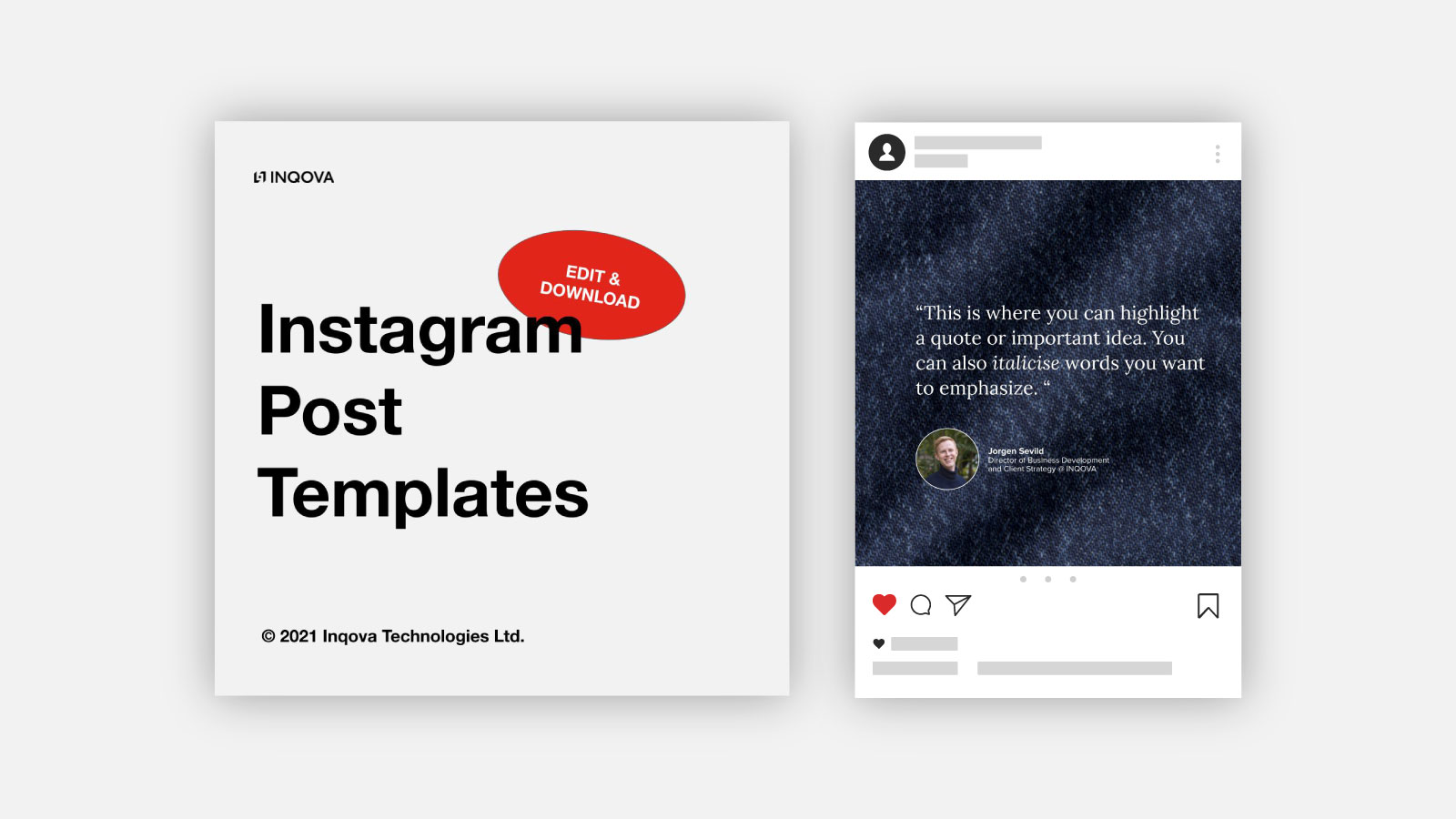 Instagram Post Template Cover