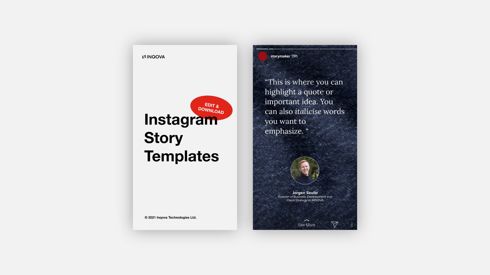 Instagram Stories Template Cover