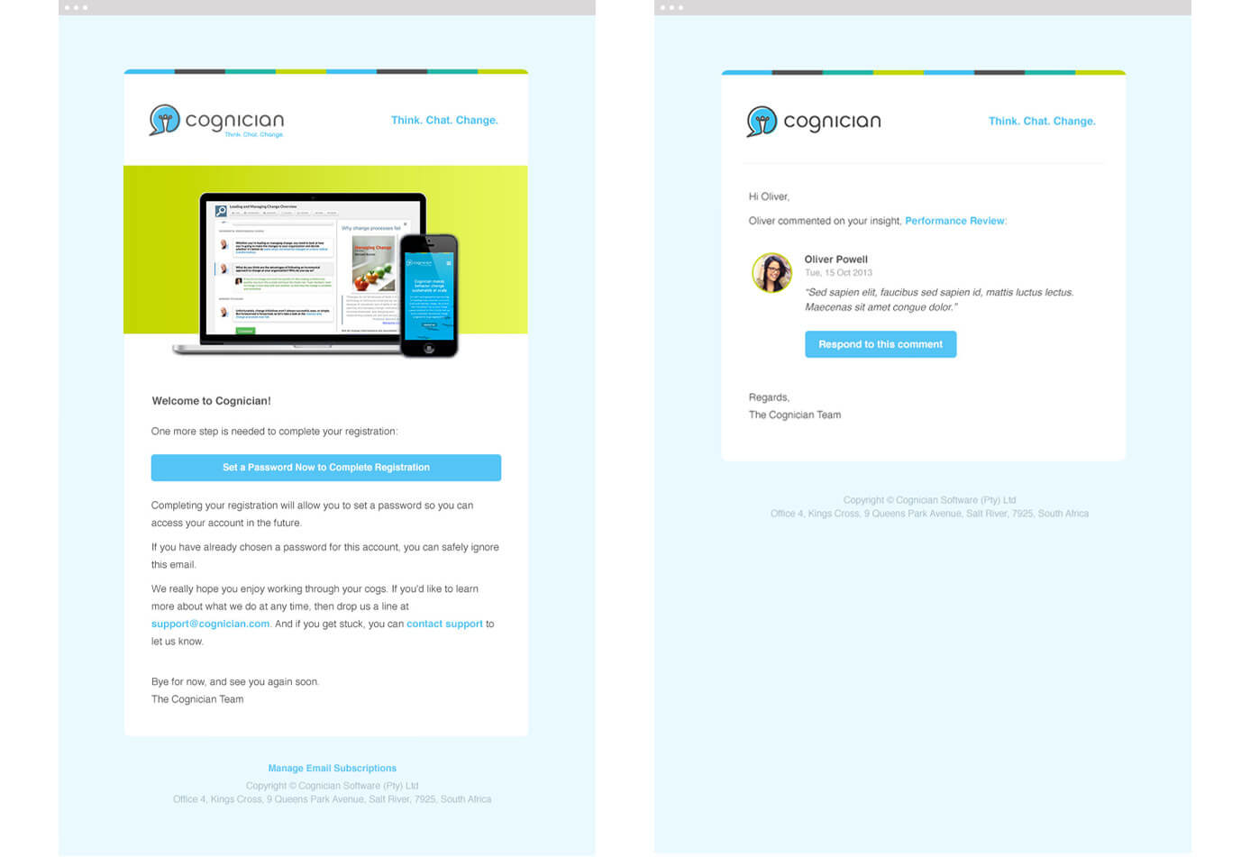 Cognician Email Template Designs