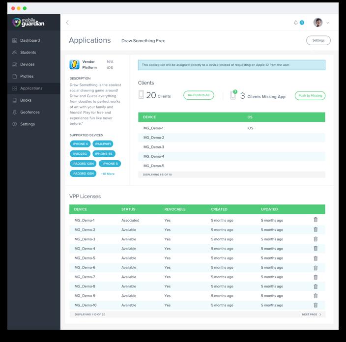 Mobile Guardian Screen Design For Web Application