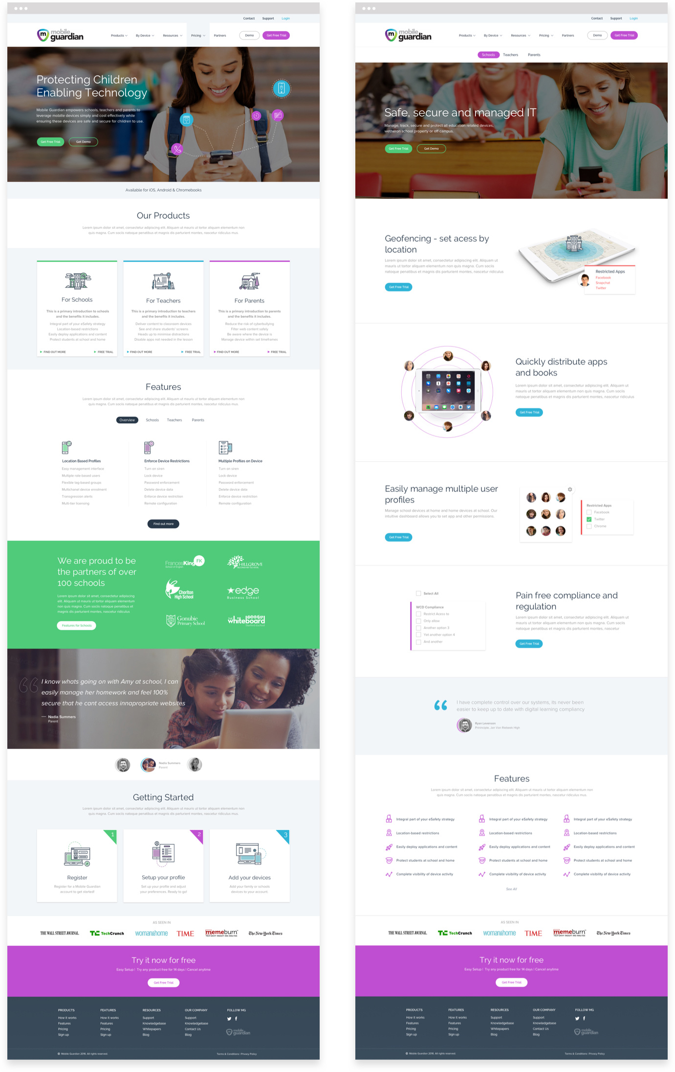 Mobile Guardian Designs For Website