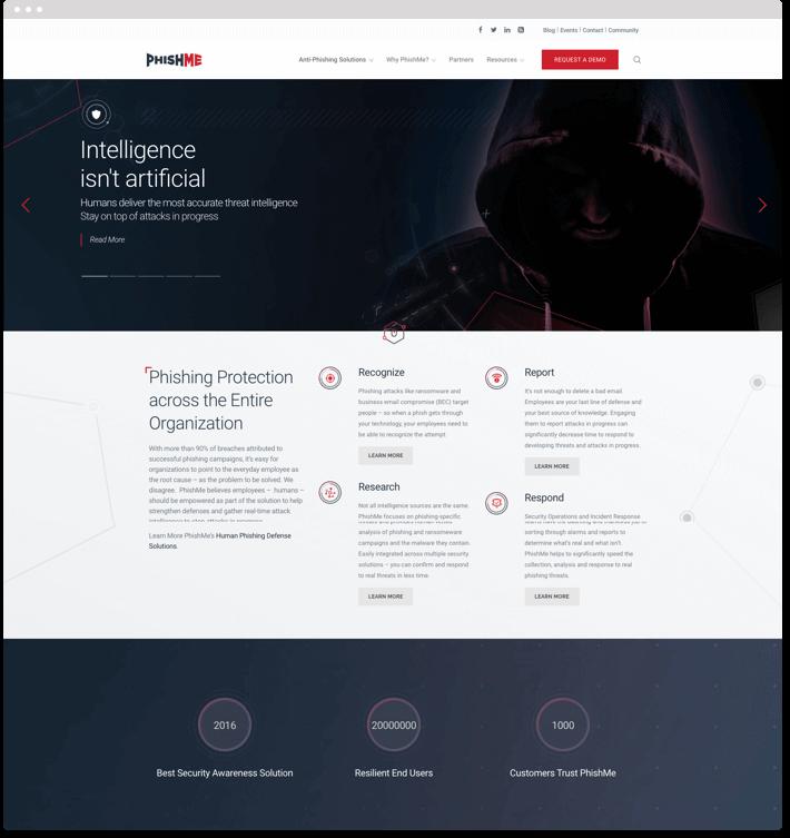 PhishMe Web Design