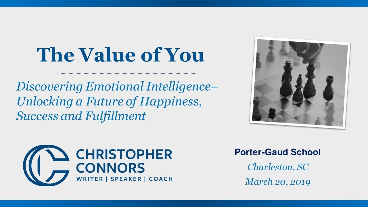 The Value of You Series- Discovering Emotional Intelligence by Christopher D. Connors