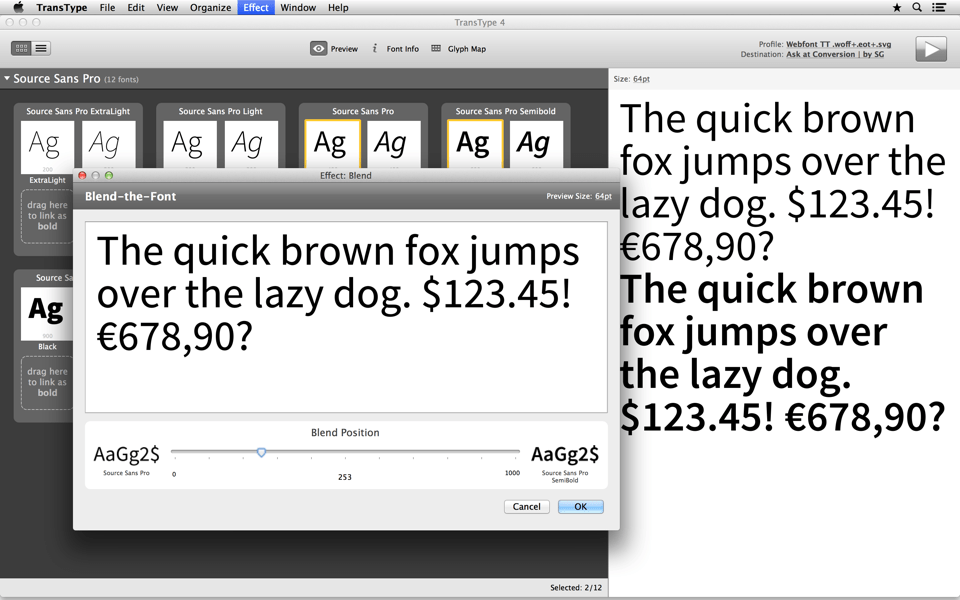 Blend two fonts to make new style