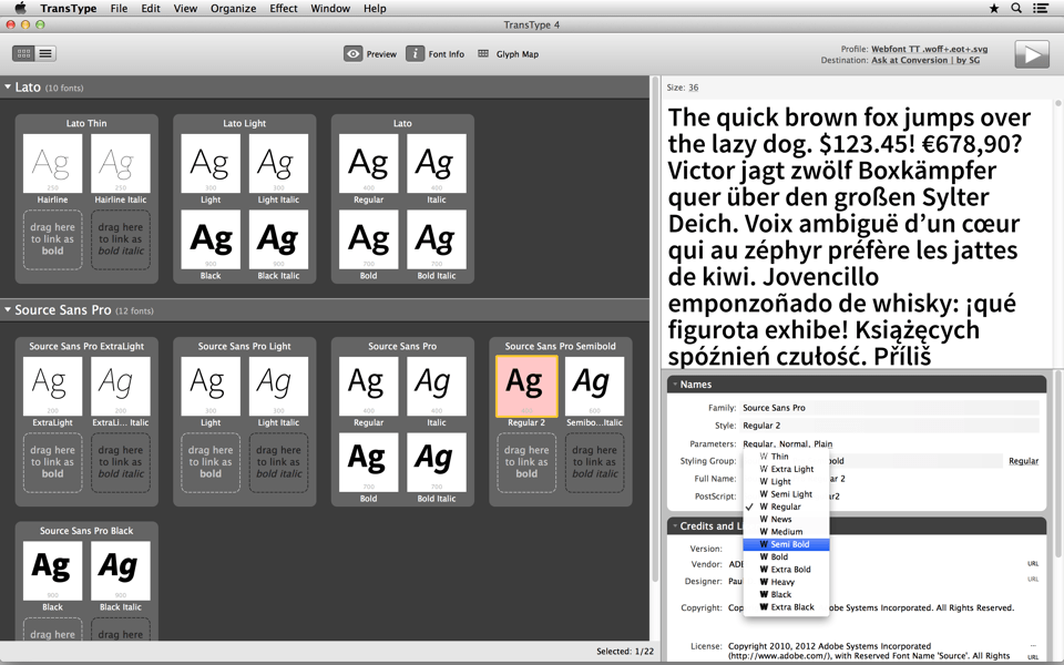 Assign proper font style to make your font family fully compatible