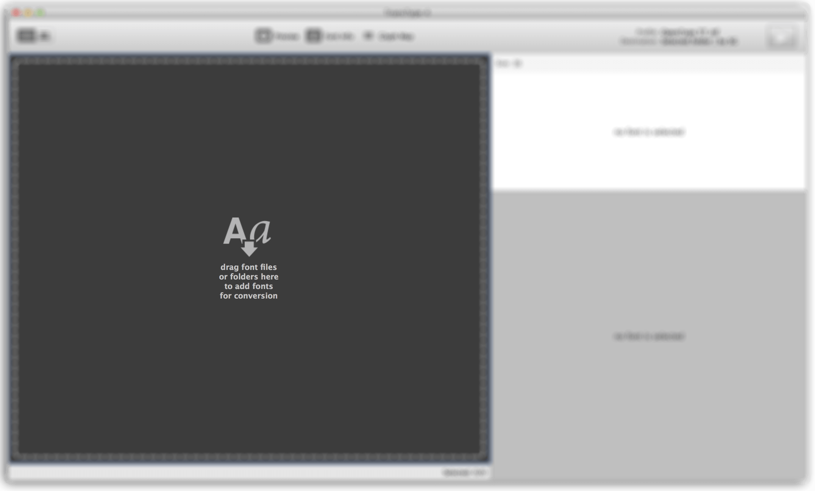 Drag-drop font files into the TransType window