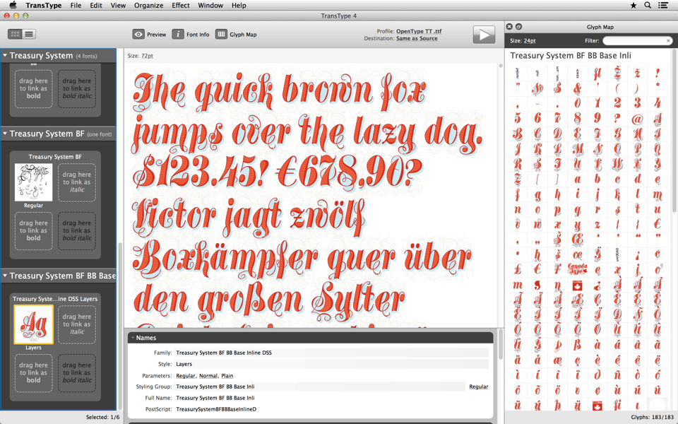Work with vector-based overlaid color fonts