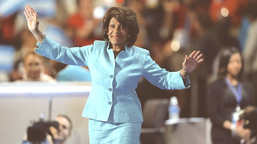US Congresswoman Maxine Waters (D-CA) in Blue Suit
